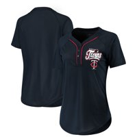 bc41dcce329 Product Image Women s New Era Navy Minnesota Twins Henley Mesh Jersey T- Shirt