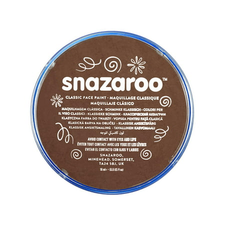 Snazaroo Classic Face Paint, 18ml, Light Brown