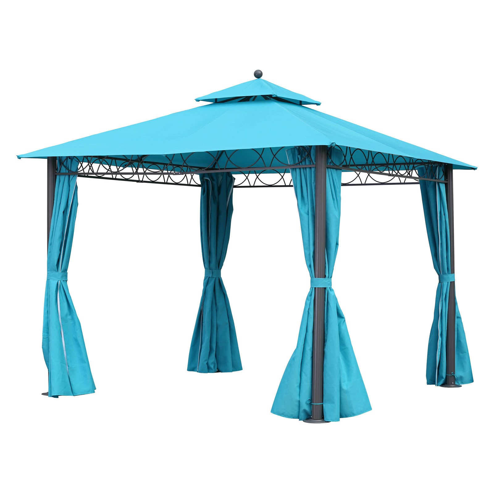 International Caravan St. Kitts 10 ft. Aluminum Double Vented Outdoor Gazebo by International Caravan