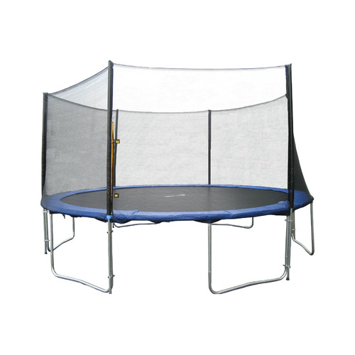 ExacMe 12-Foot Trampoline, with Safety Enclosure and Ladder, Blue (Box 2 of 3)