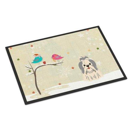 Carolines Treasures BB2557JMAT Christmas Presents Between Friends Shih Tzu Silver White Indoor or Outdoor Mat, 24 x 0.25 x 36 in. - image 1 of 1