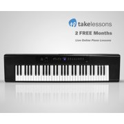 Artesia A-61 61-Key Digital Piano with Power Supply, Sustain Pedal & 2 Months Free of Live Online Piano Lessons from TakeLessons