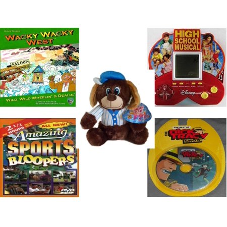 Little Brother Green Car - Children's Gift Bundle [5 Piece] -  Wacky Wacky West  - High School Musical 5 in 1 Electronic Handheld  - Sugarloaf s Baseball Dog  11
