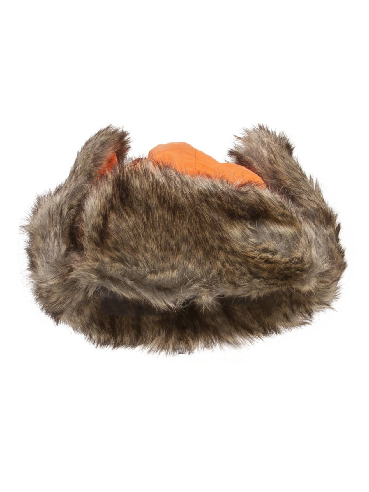 b1548ba37 Ushanka Faux Fur Trapper Winter Flight Trooper Hat Cap ORANGE S/M