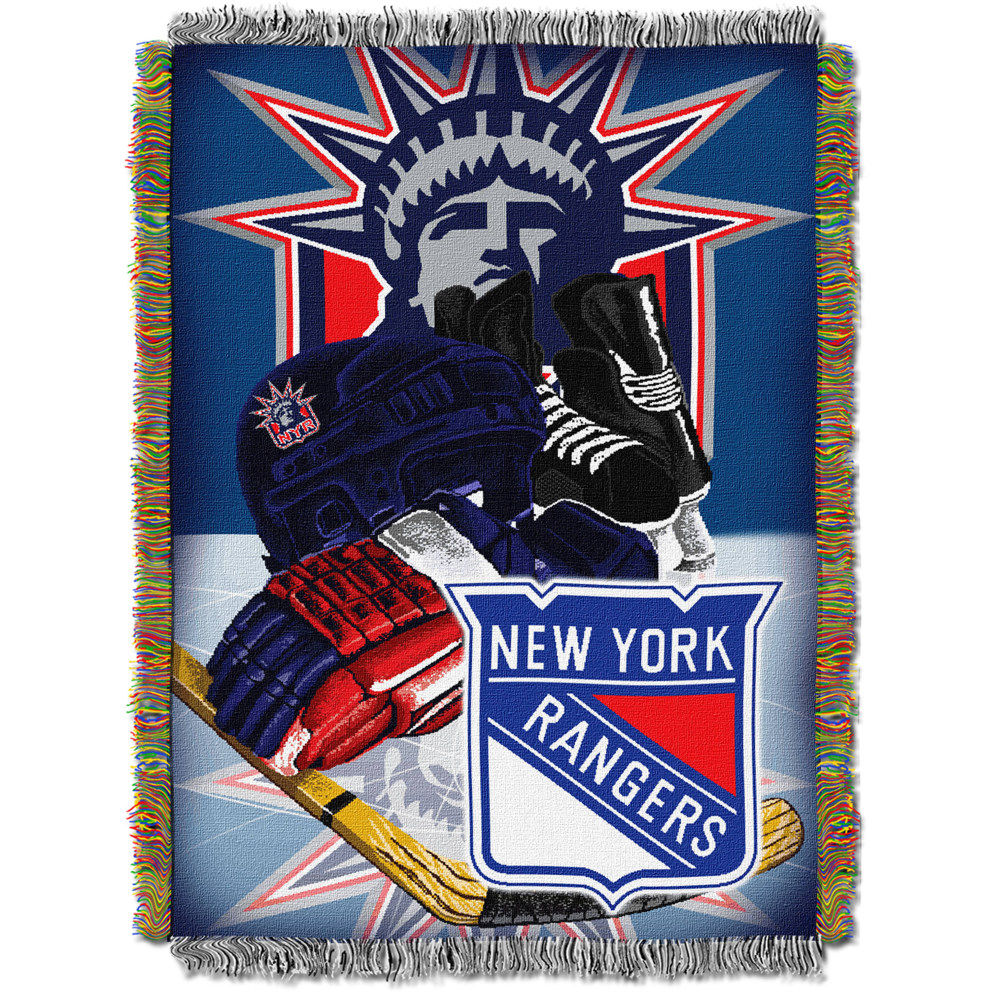 """NHL 48"""" x 60"""" Home Ice Advantage Series Tapestry Throw, Rangers"""