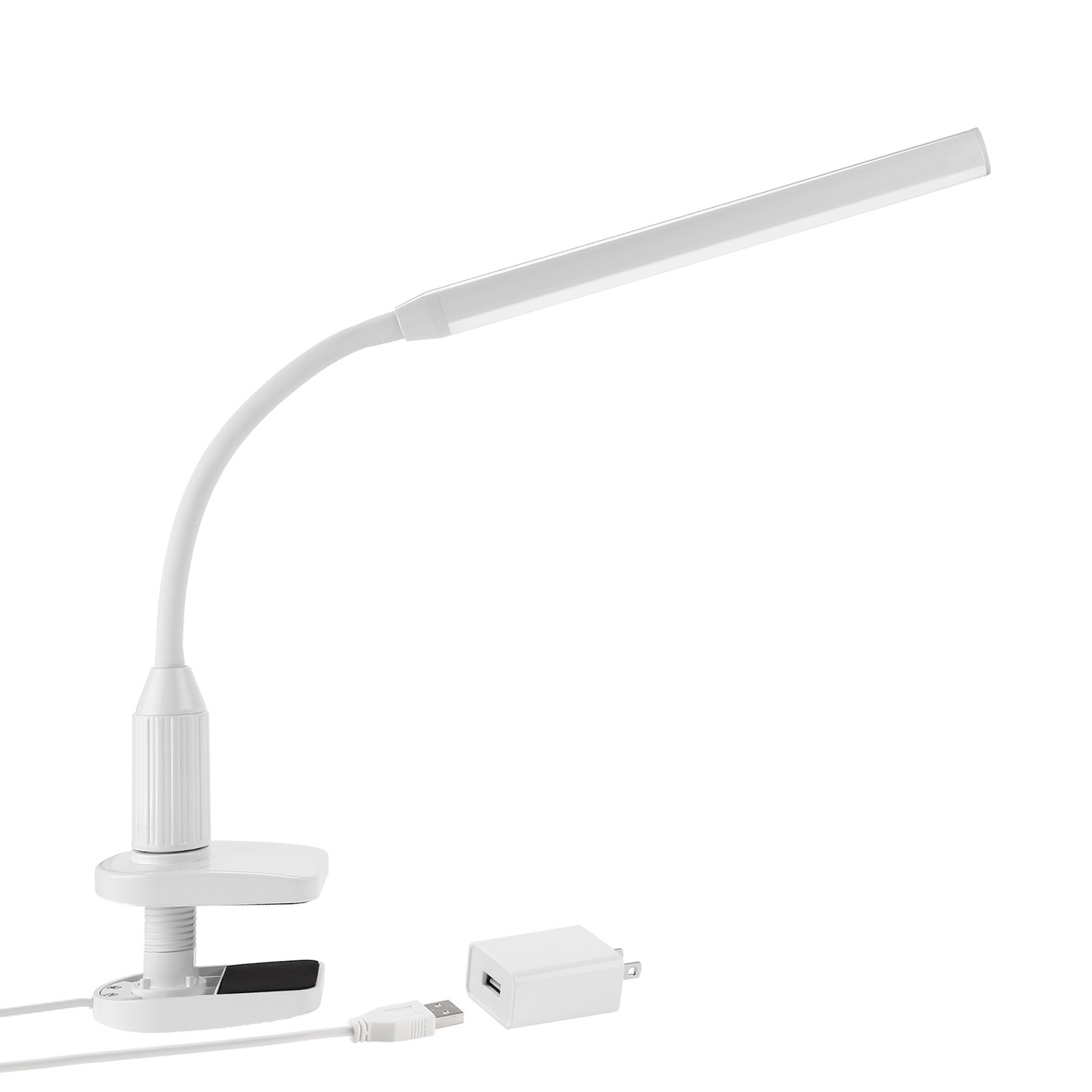 TORCHSTAR LED Kids Clamp Desk Lamp, Fully Dimmable Study Desk Light, LED Desk  Lamp For College, Memory Function, White   Walmart.com