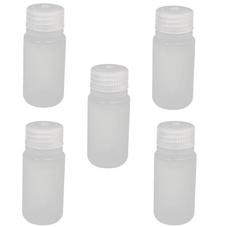 Mouth Environmental Sample Bottle - Uxcell 5pcs 50ml Wide Mouth Laboratory Reagent Bottle Sample Thicken Bottle Clear