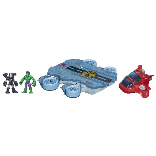 Playskool Heroes Marvel Super Hero Adventures Helicarrier Vehicle with War Machine Figure by Hasbro