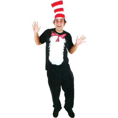 Cat in the Hat Shirt Adult Halloween Costume (Cute Cat Halloween Memes)