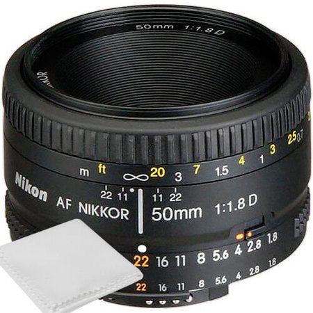 Nikon 50mm f/1.8D AF Nikkor Lens for Nikon Digital SLR Cameras - Brand New ()