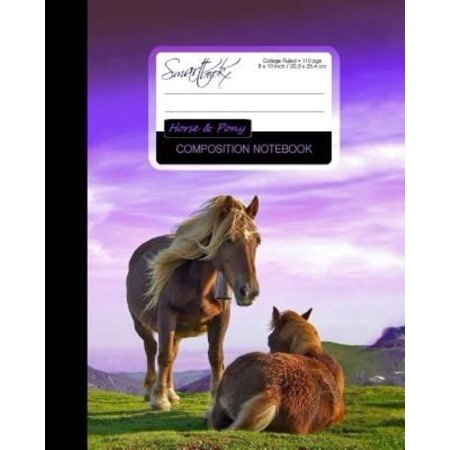 Horse & Pony Composition Notebook: College Ruled Writer's Notebook for School / Teacher / Office / Student [ Perfect Bound * Large