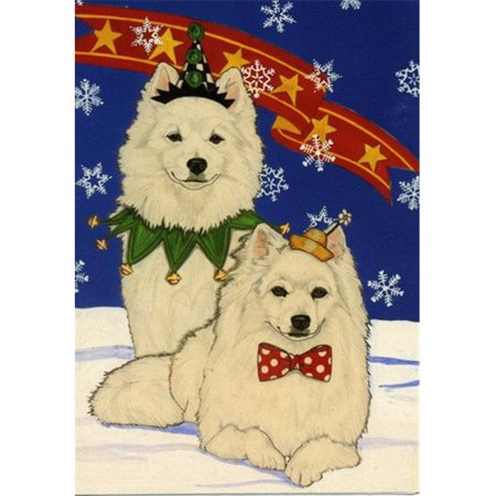 Pipsqueak Productions C918 Holiday Boxed Cards- American Eskimo