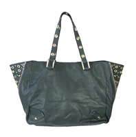 Juicy Couture Bedford Studded Leather Large Tote Bag, Dar...
