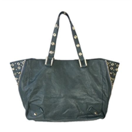 Juicy Couture Bedford Studded Leather Large Tote Bag, Dark Teal Big Leather Tote