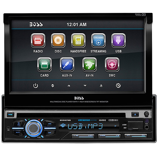 """Boss Audio BV9979B Single-DIN DVD/CD Receiver with 7"""" Digital TFT Monitor and Bluetooth"""