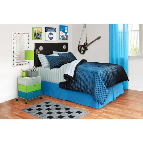 your zone reversible bedding set, halftone/rich black