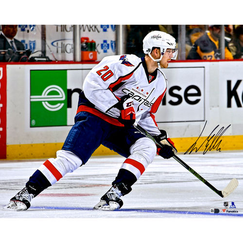 "Lars Eller Washington Capitals Autographed 16"" x 20"" White Jersey Skating Photograph No Size by Fanatics Authentic"