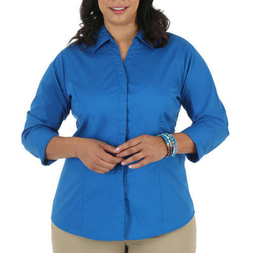 Riders by Lee Women's Plus 3/4 Sleeve Easy Care Top