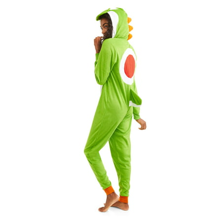 Super Mario Yoshi Women's Sleepwear Adult Costume Union Suit