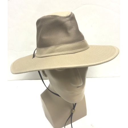 Safari khaki aussie bush cotton hat fishing boonie bucket for Fishing hats walmart