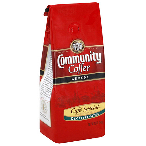 Community Coffee Cafe Special Decaffeinated Ground Coffee, 12 oz (Pack of 6)