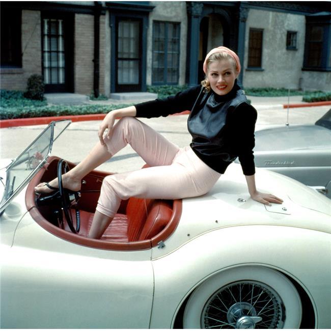 Anita Ekberg On Her Jaguar Late 1950S Photo Print, 20 x 16 - Large - image 1 of 1