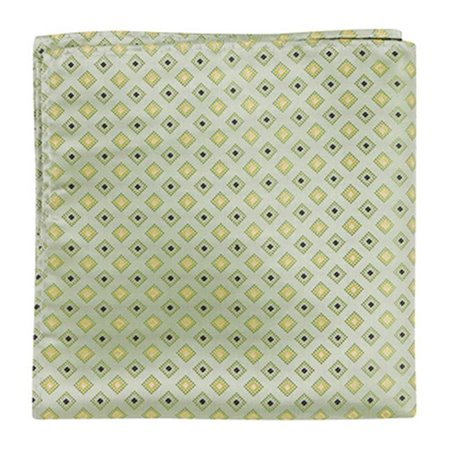 G3 PS - 12 x 12 in. Matching Pocket Square - Green With Squares - image 1 de 1