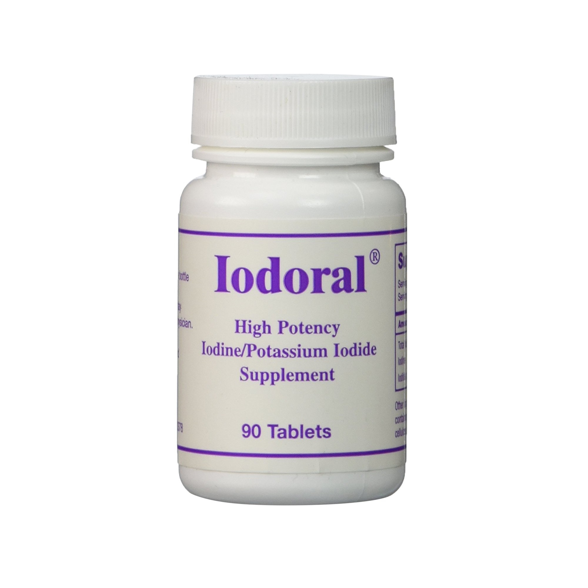 OPTIMOX Iodoral High Potency Iodine Potassium Iodide Supplement 90 Tablets by