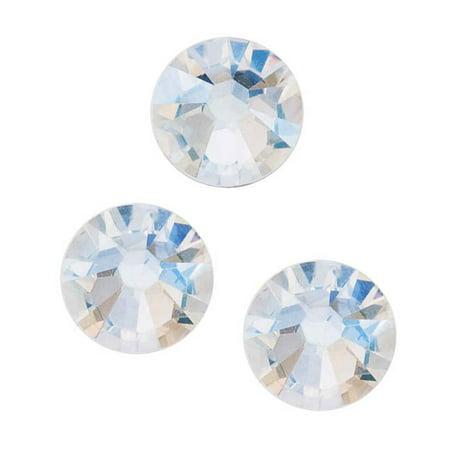 Swarovski Crystal, Round Flatback Rhinestone SS30 6.5mm, 25 Pieces, Crystal Moonlight