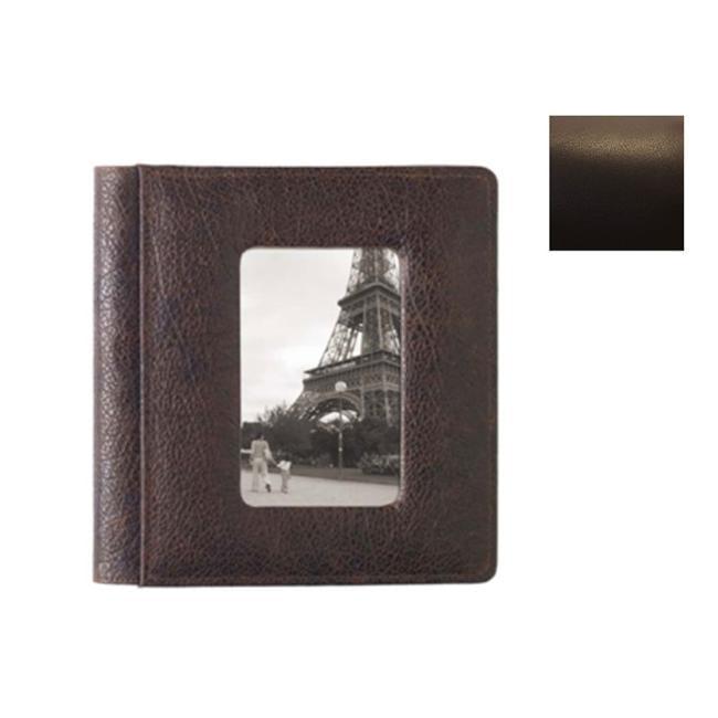 Raika TN 169 BROWN 4inch x 6inch Front Framed Photo Album - Brown