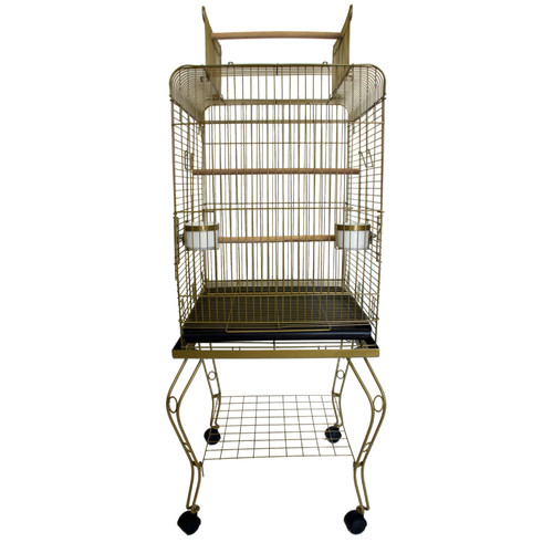 Tucker Murphy Pet Halbert Open Top Parrot Bird Cage with Stand
