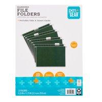 Pen + Gear Hanging File Folders, Green, 25 Count