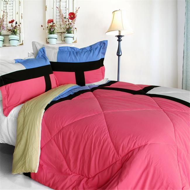 ONITIVA-CFT01073-4BRK-MPTP Remember Mackenzie - Quilted Patchwork Down Alternative Comforter Set  King Size - Pink