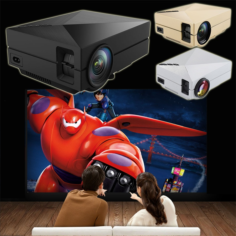 Mini Portable Home Cinema Theater LED Projector HD 1080P HDMI AV USB VGA