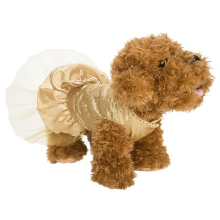 CUECUEPET Sequin Princess Dog Silk Dress for Female/Girl Dogs or Puppies - Puppy Fancy Dress