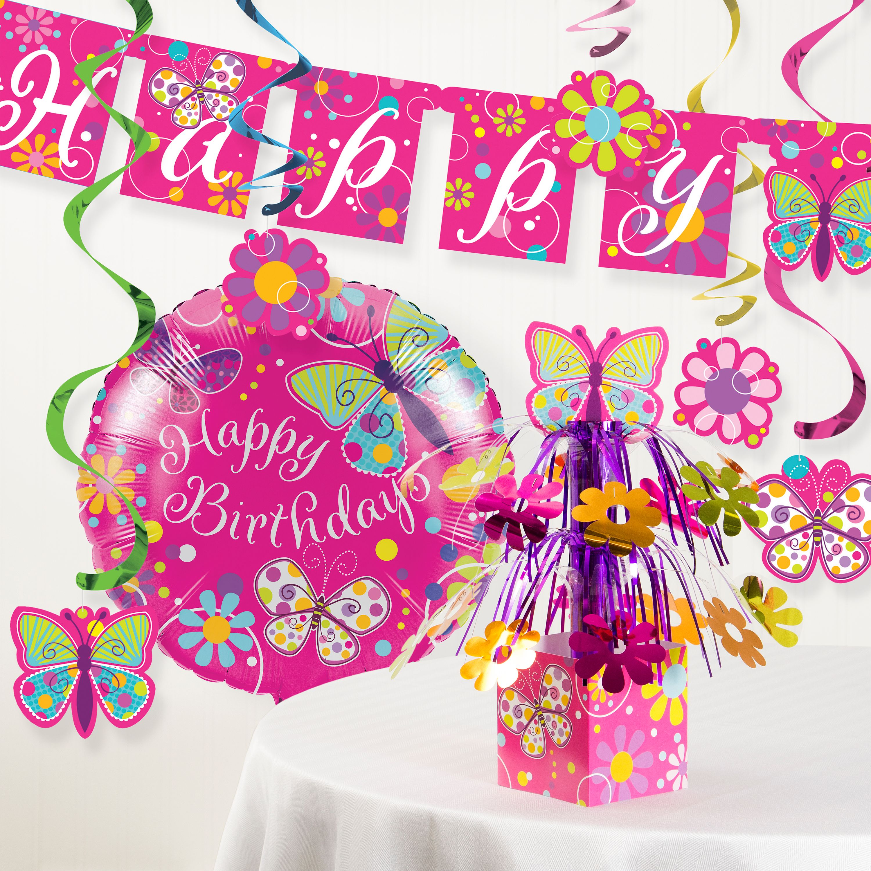 Butterfly Birthday Party Decorations Kit