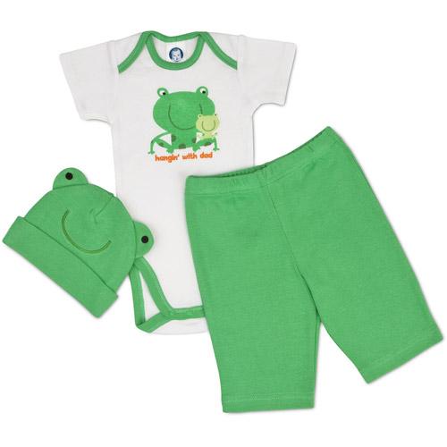 Gerber - Newborn Boys' 3-Piece Bodysuit and Pant Set