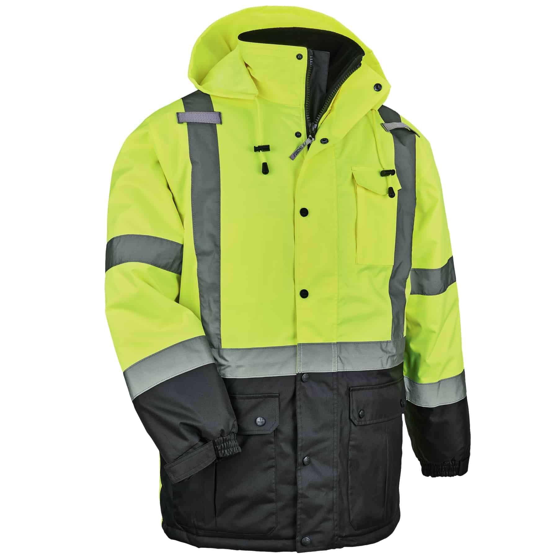 Ergodyne GloWear® 8384 Type R Class 3 Thermal Parka, Lime, 2XL