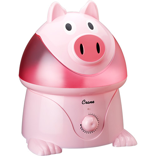 Crane Ultrasonic Cool Mist One Gallon Humidifier, Pig