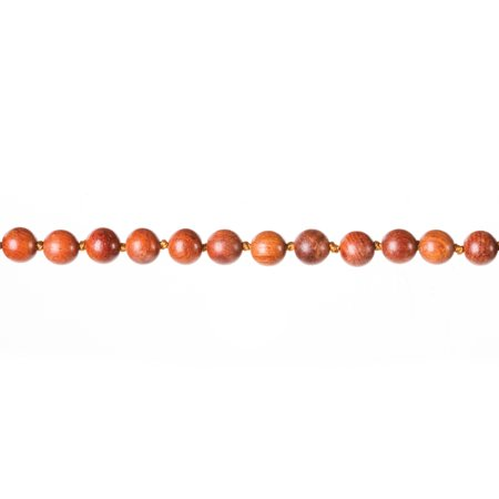 Bead Wrap Necklace (Wood Double Wrap Necklace: Brown/Red, 8 millimeter Beads, 60)