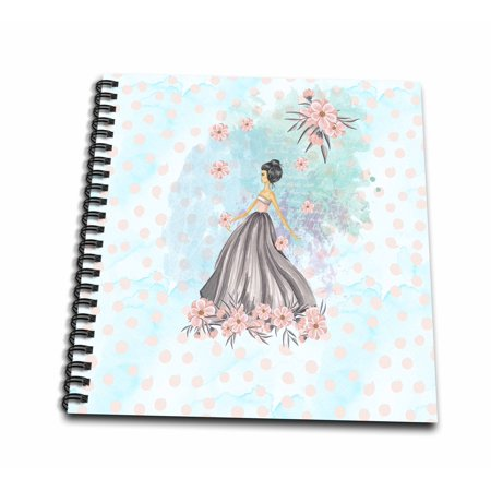 3dRose Cool Trendy Fashion Girl Watercolor Illustration for Chic Girls - Mini Notepad, 4 by 4-inch
