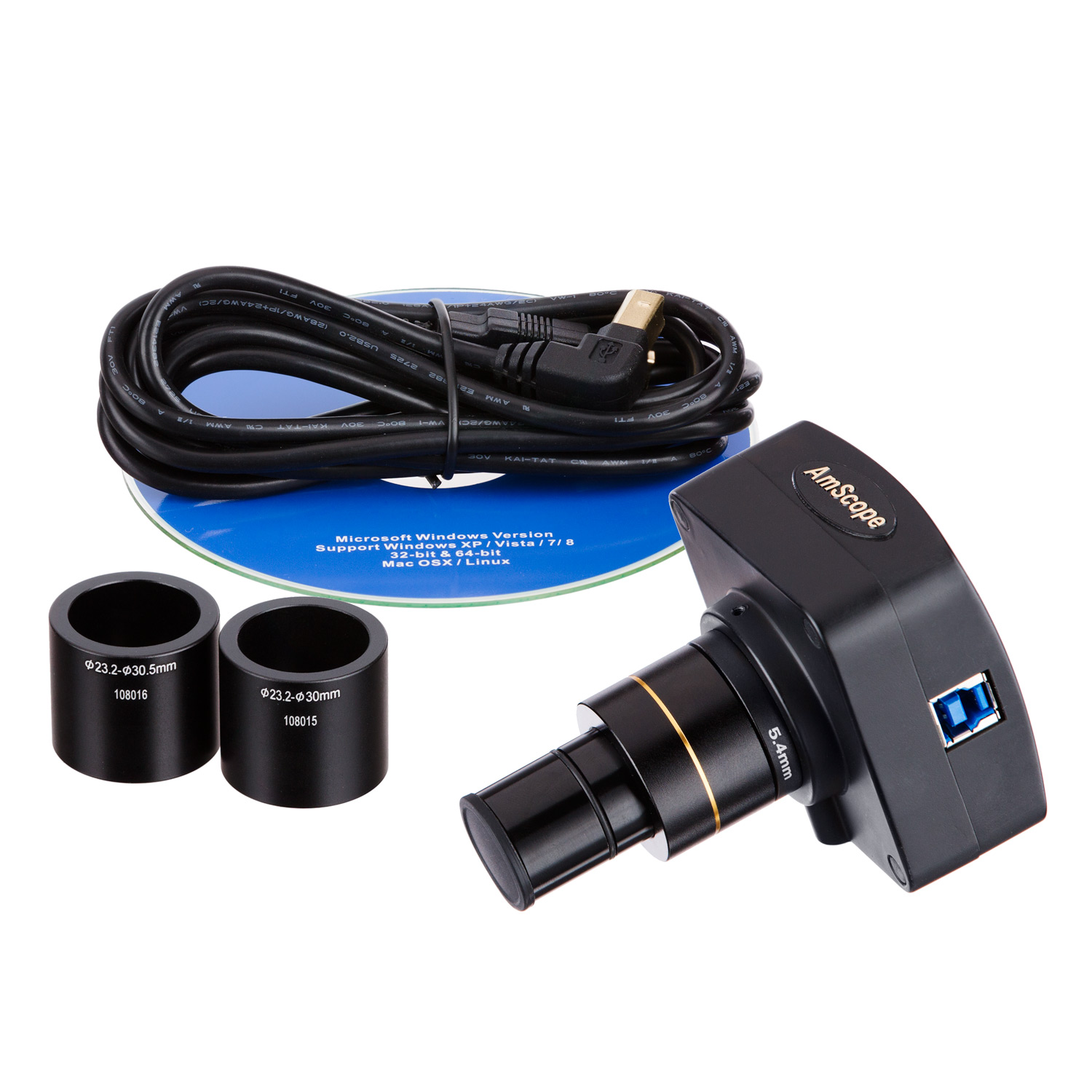 AmScope 2.8MP USB3.0 CCD Fluorescence Digital Camera