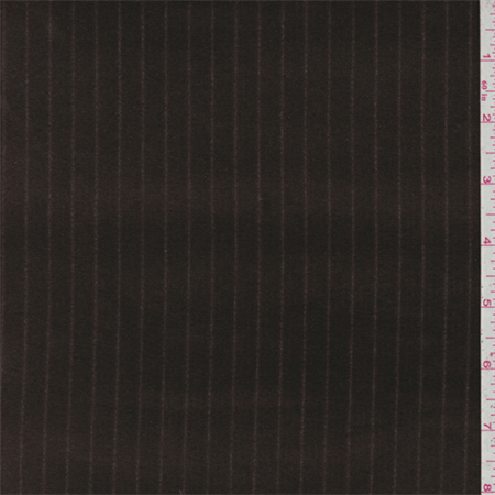Mocha Brown Stripe Velvet, Fabric Sold By the Yard ()