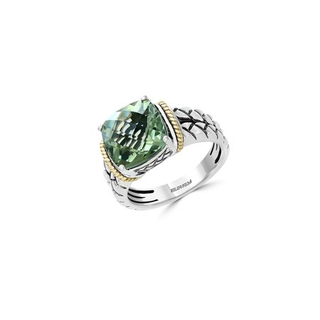 Green Amethyst, 18K Yellow Gold & Sterling Silver - Clothing With Lights