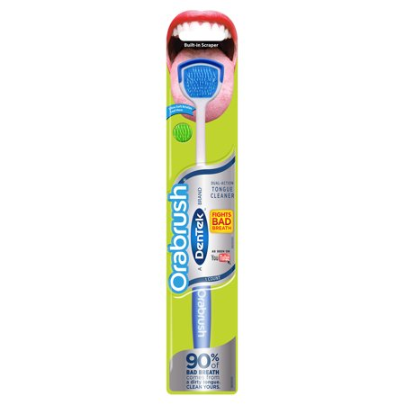 Orabrush Tongue Cleaner by DenTek, Helps Fight Bad Breath, 1