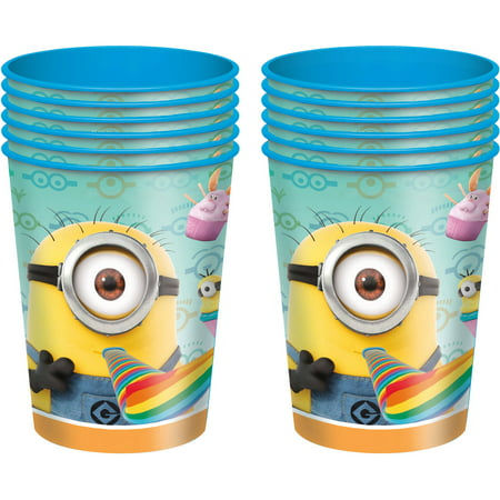 Despicable Me Party Supplies (Despicable Me Minions Plastic Cups, 16 oz,)