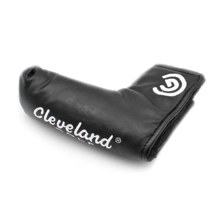 College Licensed Golf Headcover (NEW Cleveland Golf Black/White Blade Putter Headcover w/Oil Cloth )