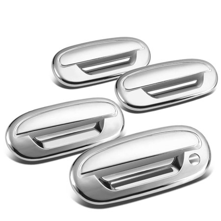 4dr Lambo Door (For 1997 to 2004 F-150 / Heritage 4DR 4pcs Exterior Door Handle Cover without Passenger Keyhole / with Keypad (Chrome) 00 01 02 03)