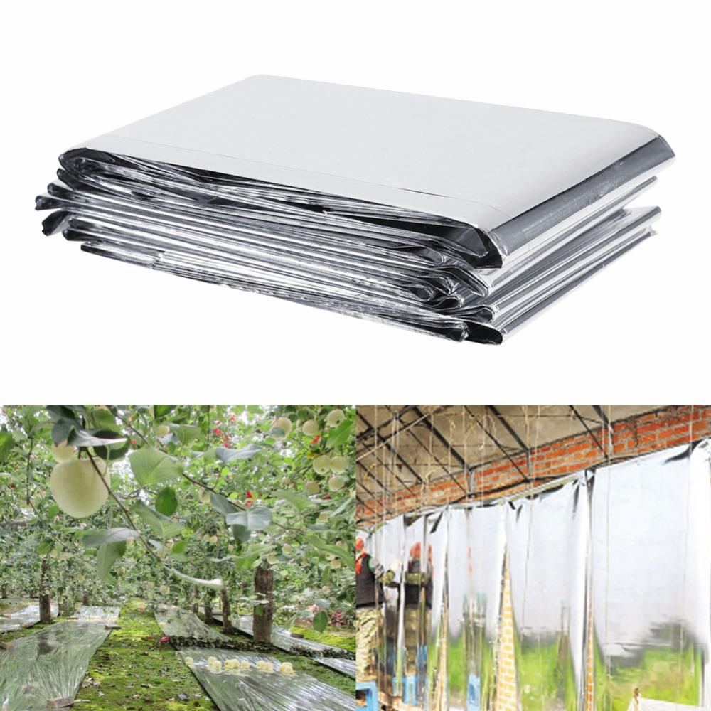 210 x 120cm Silver Reflective Mylar Film, Plants Garden Greenhouse Covering Foil SHeets, Highly Reflective, Effectively... by ZJchao01