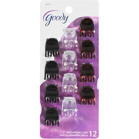 Goody Classics 3 Prong Mini Claw Clip 12 Ea